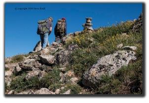 Hiking buddies on Mount Massive Colorado