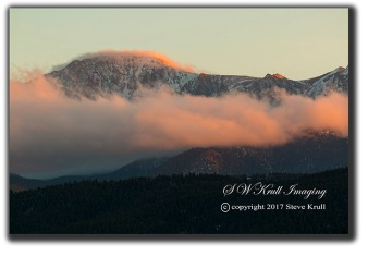 Sunset on Pikes Peak Colorado