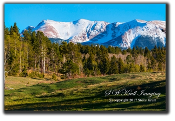 Snow capped Pikes Peak Colorado