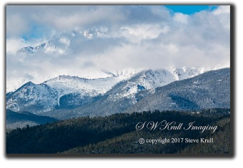 Storm Clouds and Fresh Snow on Pikes Peak Colorado