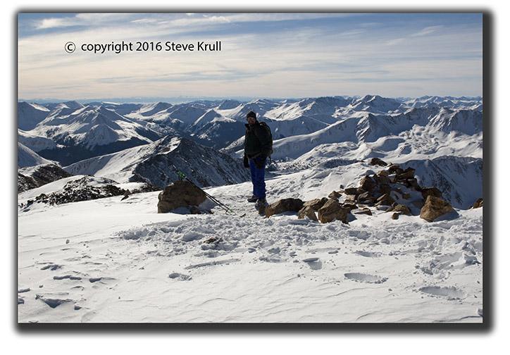 Summit Mount Elbert in Winter