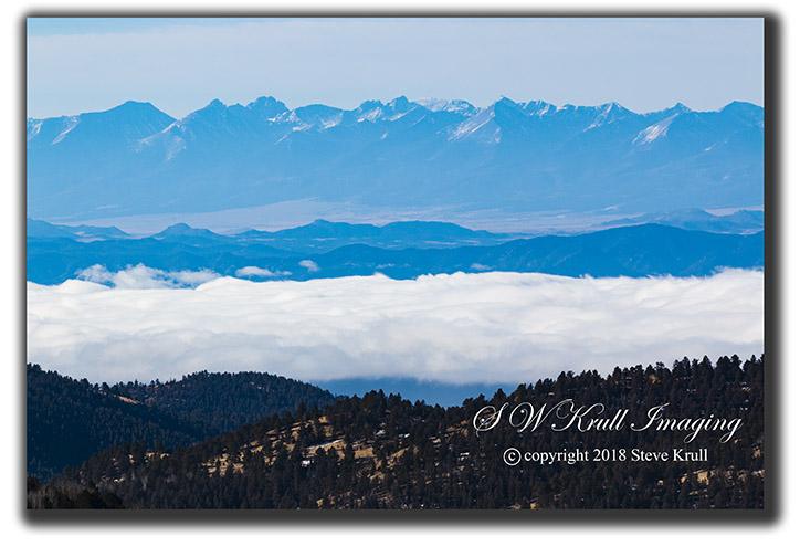 Misty Sangre De Cristo Mountains