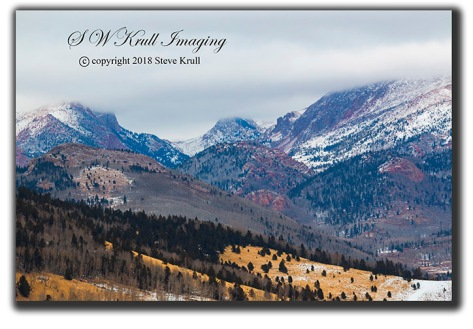 Pikes Peak in Winter Snow