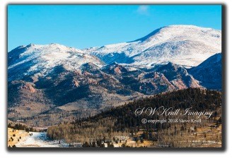 Pikes Peak Winter Morning