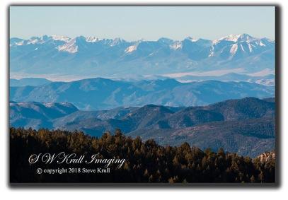Hazy Sangre de Cristo Mountains