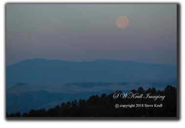 Sangre de Cristo Mountain Moonset