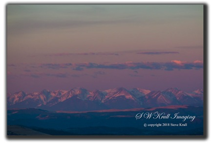 Alpenglow sunrise on the Sangre de Cristo