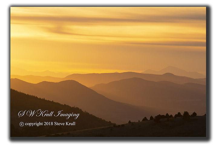 Sunset on the Collegiate Peaks