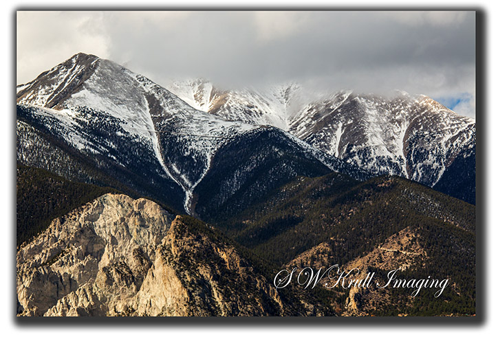 Cliffs in the Sangre de Cristo