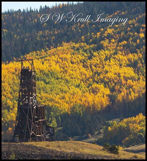 Historic Mine in Autumn Aspen