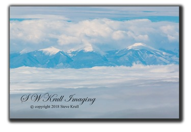 Snow and Fog on the Sangre de Cristo
