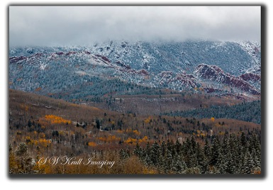 Snowy North Face of Pikes Peak