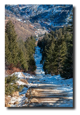 Manitou Incline in Winter