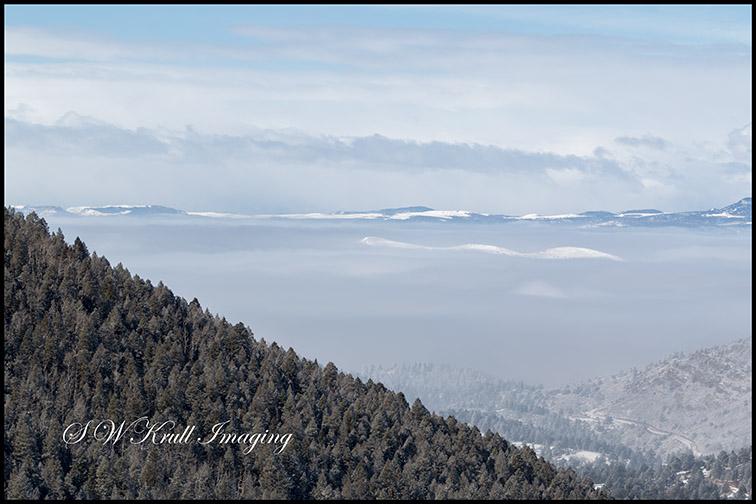 Foggy Sangre de Cristo Mountain Valley