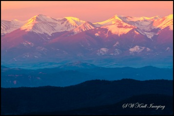 Alpenglow on the Sangre de Cristo