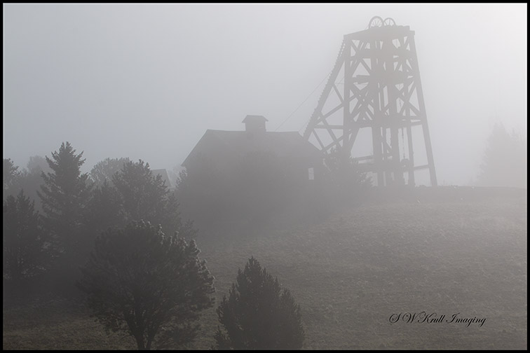 Ghostly Mines in Foggy Mine Country
