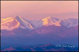 Sangre de Cristo mountain sunrise