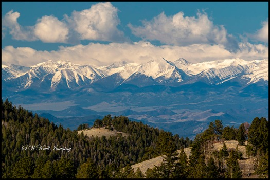 Beautiful Snow Capped Sangre de Cristo Range