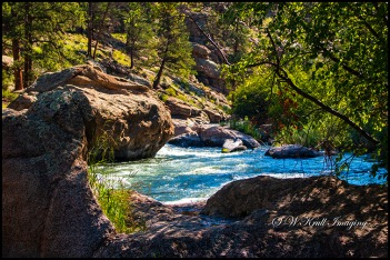 Pristine Blue Water of Eleven Mile Canyon