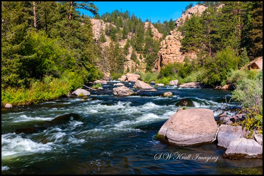 Whitewater in the South Platte River in Eleven Mile Canyon