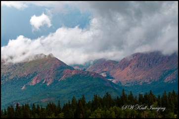 Pikes Peak Colorado Thunderstorm Clouds