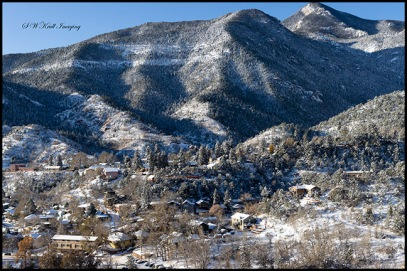 Wintry Manitou Springs Colorado
