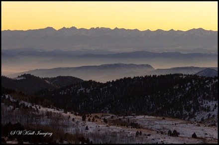 Sunset on the Sangre de Cristo