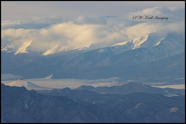 Snow on the Sangre de Cristo Mountains