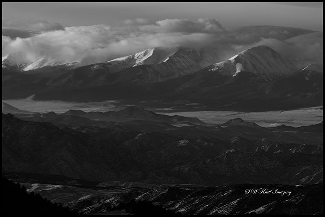 Snow on the Sangre de Cristo Mountains