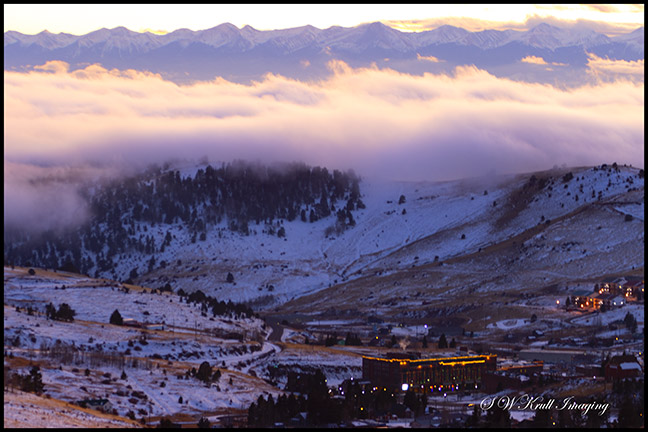 Foggy Sangre de Cristo Sunset over Cripple Creek Colorado