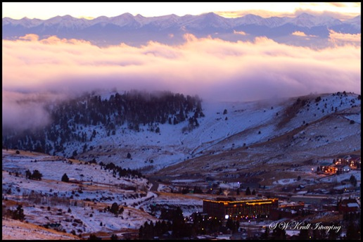 Foggy Sangre de Cristo Sunset over Cripple Creek Colorado