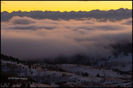 Foggy Sangre de Cristo Sunset