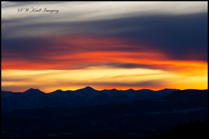 Winter Sunset on the Sangre de Cristo Mountains