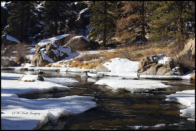 Eleven Mile Canyon in Winter
