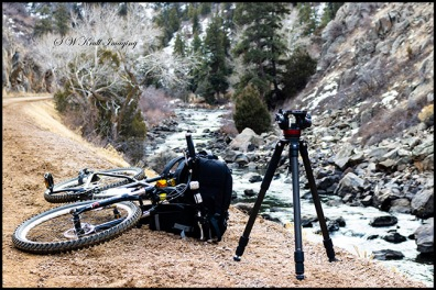 Photography Rig by the Pristine Waters of the South Platte River