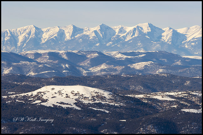 Beautiful Sangre de Cristo Mountains in winter