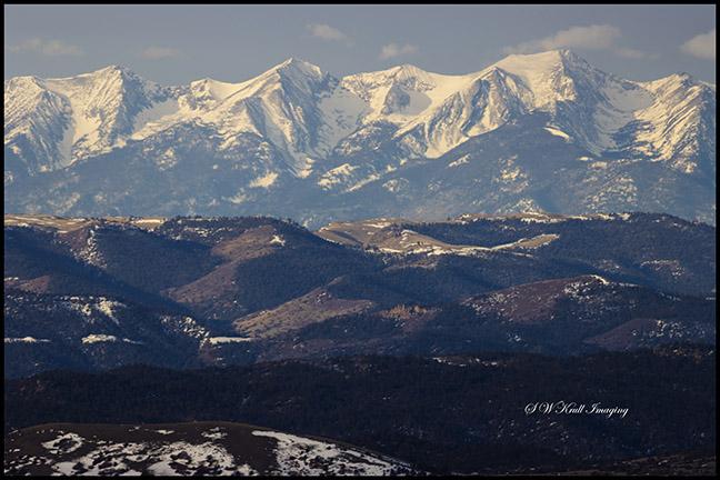 Sunrise on the Sangre de Cristo Mountain Range of Colorado in winter