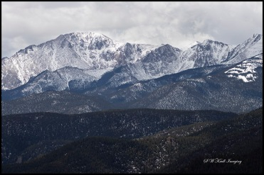 Cloudy Pikes Peak