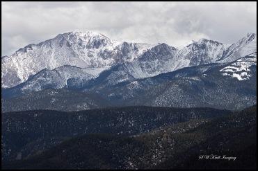 Cloudy Pikes Peak