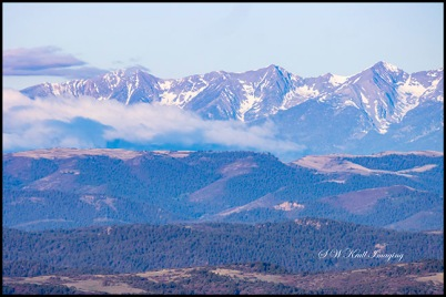 Clouds on the Sangre de Cristo Range of Colorado