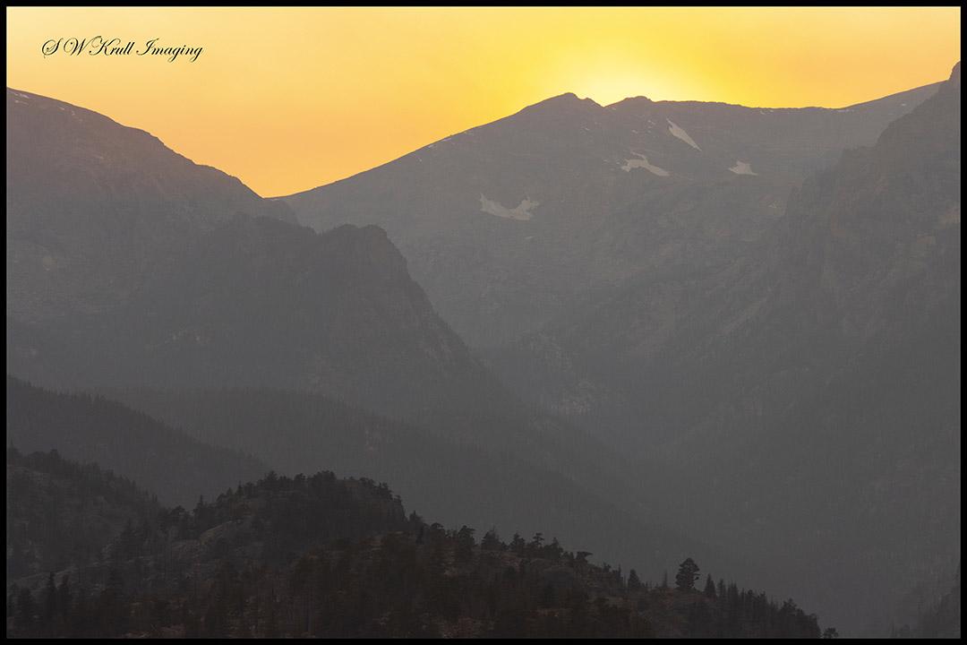 Sunset on Longs Peak Colorado