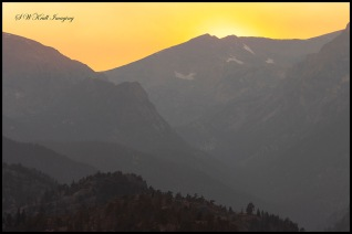 Sunset on Longs Peak Colorado