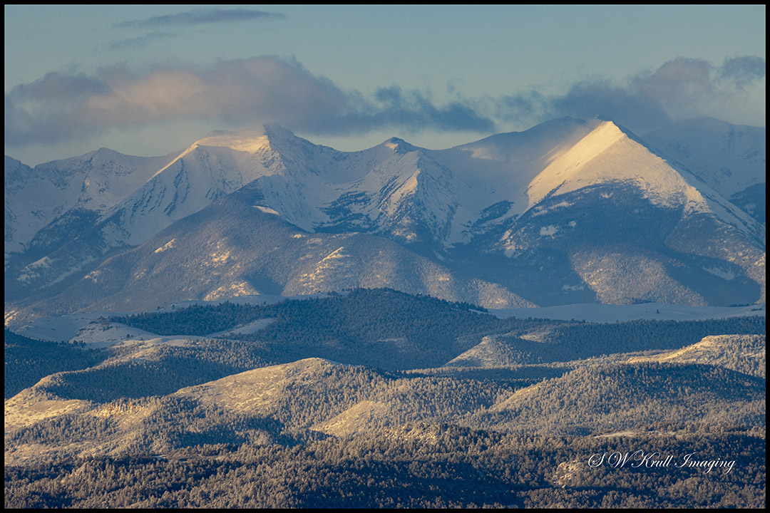 Sangre de Cristo mountains the day after a big Colorado snowstorm