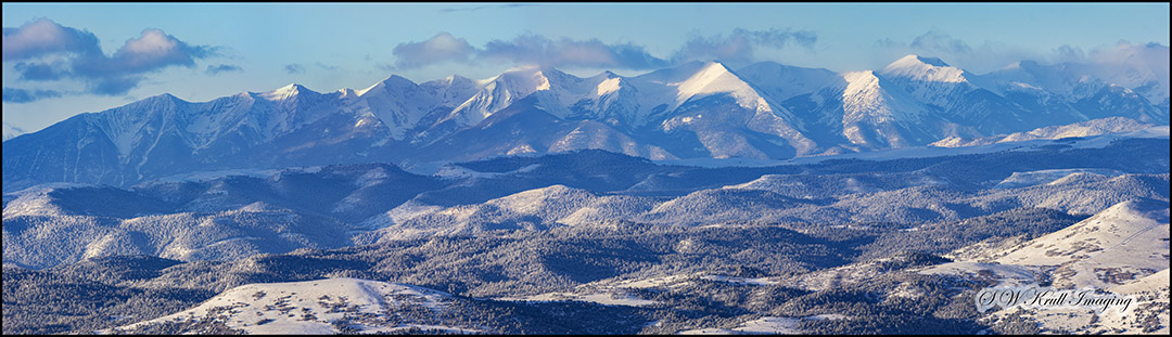 Beautiful Snowy Sangre de Cristo Mountains