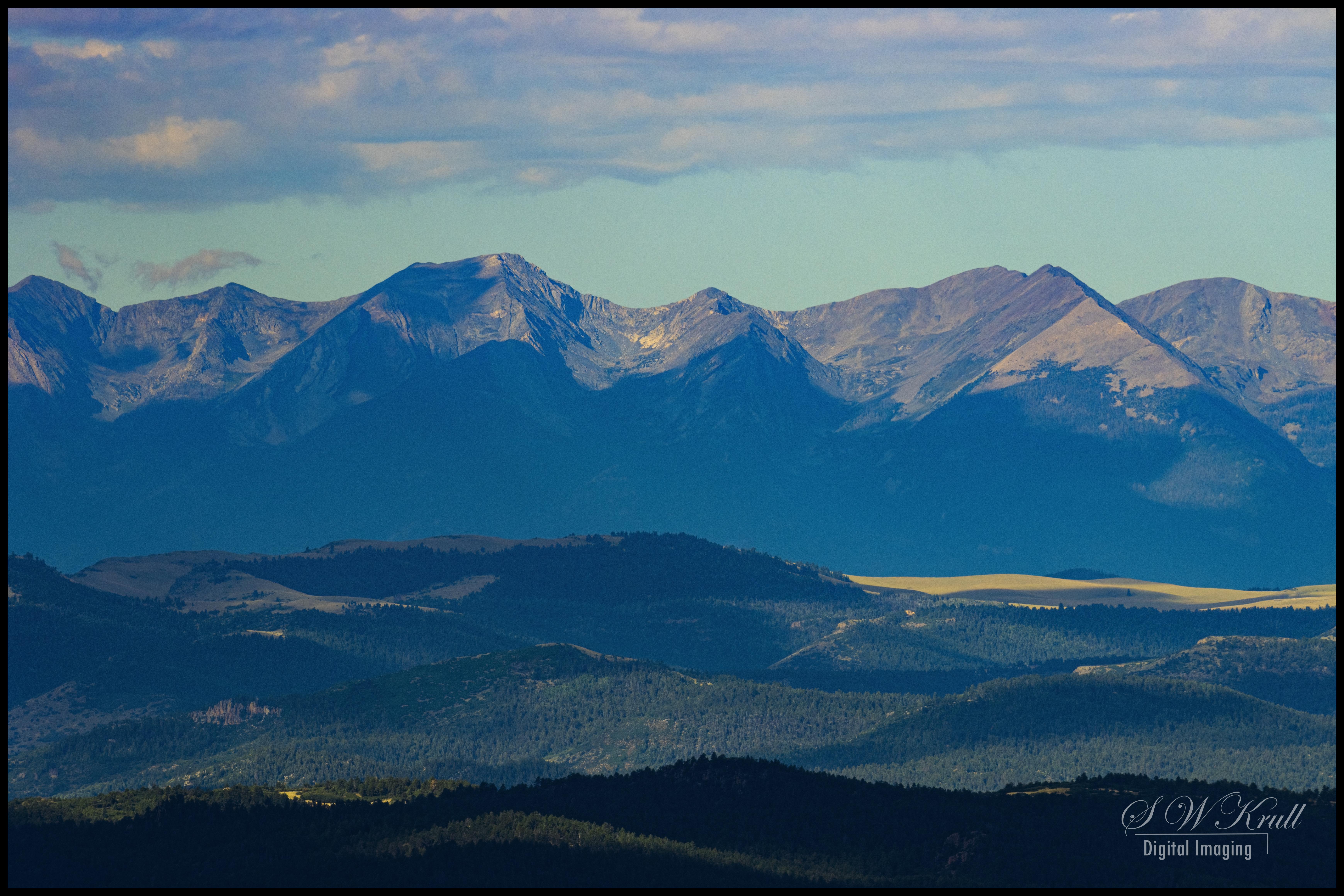 Sangre de Cristo Range of Colorado in summertime